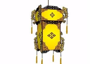古典中式景观灯素材设计SU(草图大师)模型