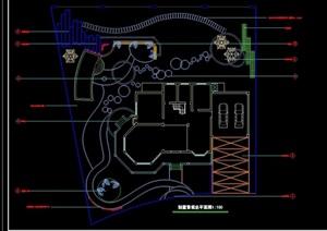 别墅庭院设计cad总平面