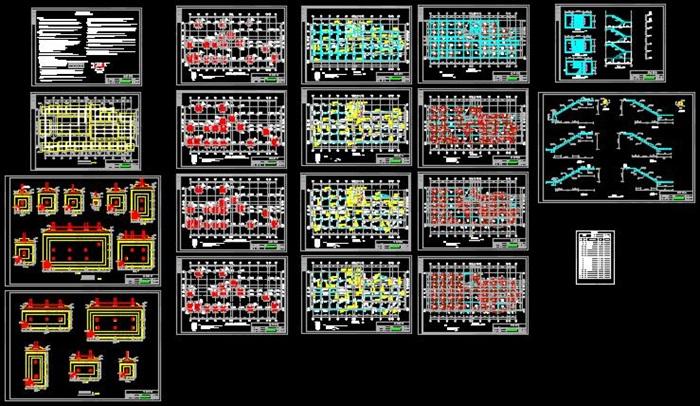 七层框架结构办公楼结构设计(含结构图任务书计算书施组工程算量及图片