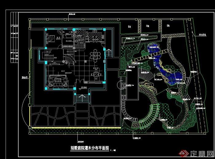 别墅别墅设计详细绿化cad施工图[原创]惠南庭院小城图片