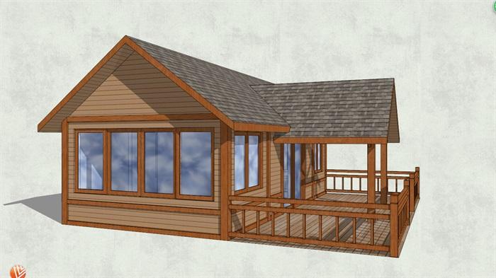 精致中式小木屋设计su模型[原创]
