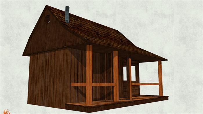 欧式小木屋设计su模型[原创]