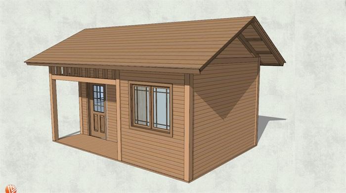精致详细小木屋设计su模型[原创]
