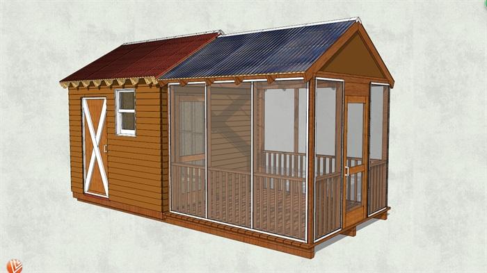 中式小木屋设计su模型[原创]