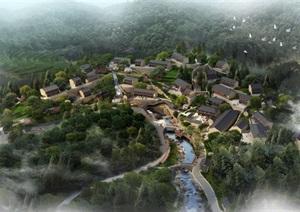 某现代中式风格农村村庄设计psd效果图