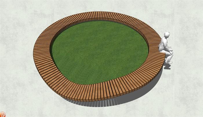 现代独特异形树池su模型[原创]