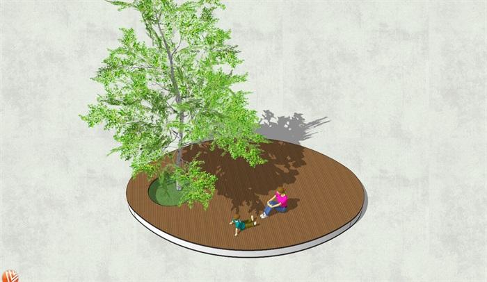 现代异形树池su模型[原创]