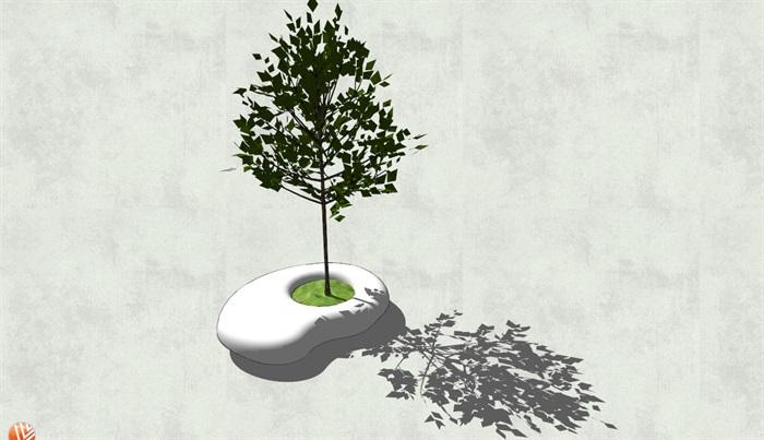 异形树池设计su模型[原创]
