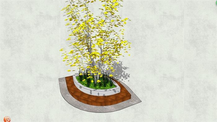 独特异形树池su模型[原创]