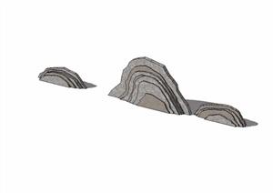园林景观详细的景石素材设计SU(草图大师)模型