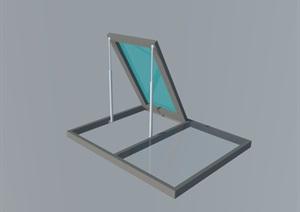 电动天窗设计SU(草图大师)模型
