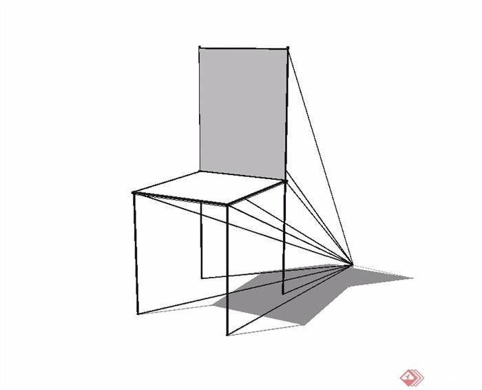 现代简约座椅素材设计su模型[原创]