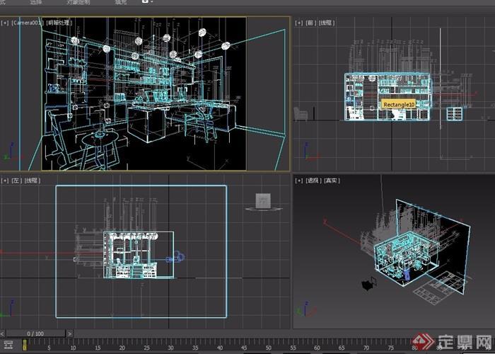 某助理办公室设计3d模型[原创]