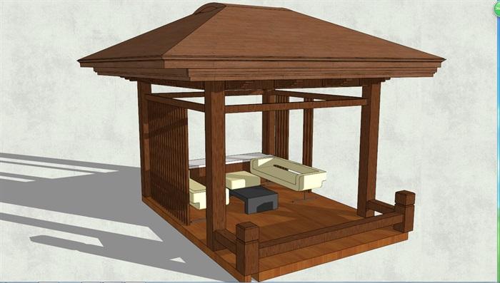 木头凉亭结构图片大全