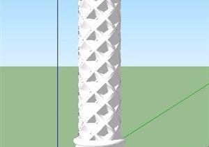 欧式景观柱子SU(草图大师)模型