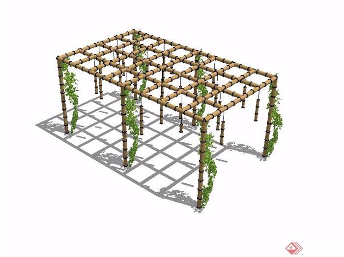 农庄设计效果图竹棚