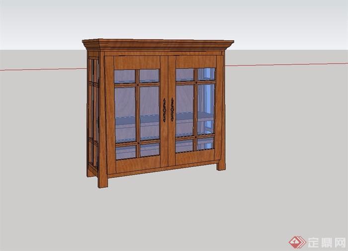 某详细室内装饰柜子设计su模型[原创]