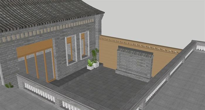 几个北方民宿建筑设计方案su模型[原创]