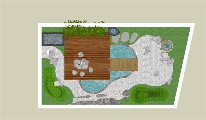 日式庭院平面图_40平米小庭院设计实景图