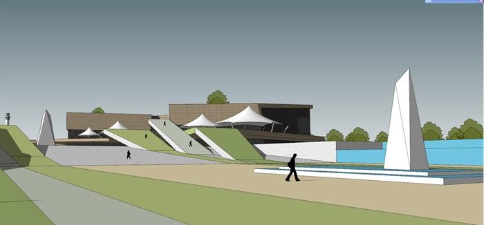 地景雕塑式文化展览博物活动中心(2)