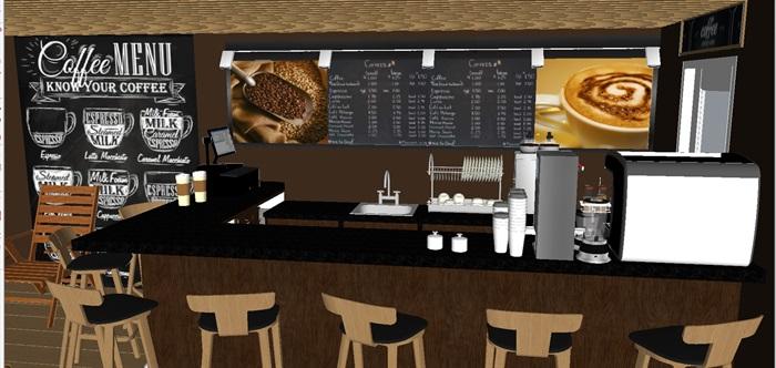 集装箱式小咖啡厅SU模型(1)