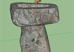 石材洗手池设计SU(草图大师)模型