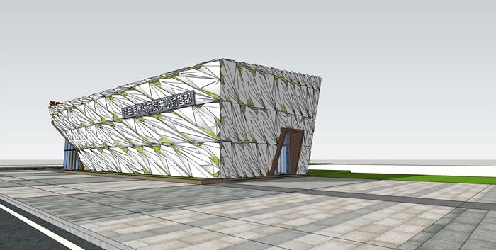 售楼部单人造型建筑su模型