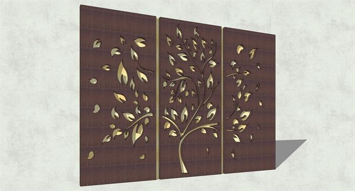 不锈钢镂空雕塑花纹景观板(1)