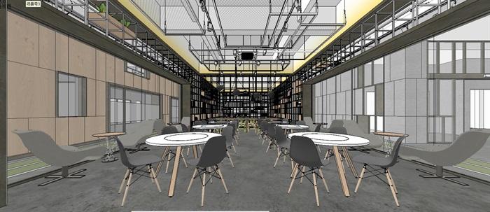工业风特色loft创客交互办公中心(3)