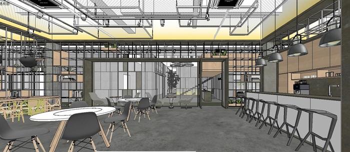 工业风特色loft创客交互办公中心(4)