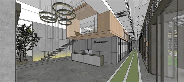 工业风特色loft创客交互办公中心(6)