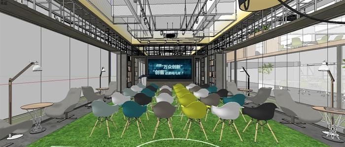 工业风特色loft创客交互办公中心(9)