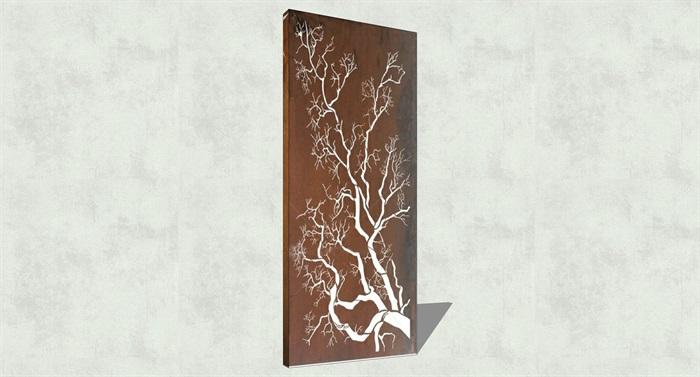 不锈钢镂空雕塑花纹景观板(5)