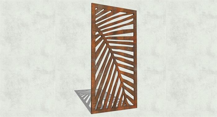 不锈钢镂空雕塑花纹景观板(6)