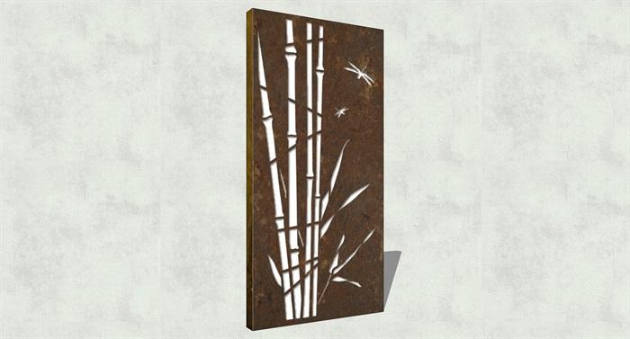 不锈钢镂空雕塑花纹景观板(7)