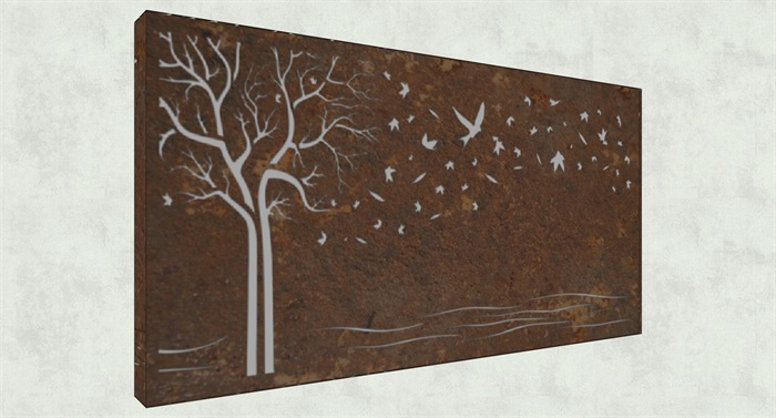 不锈钢镂空雕塑花纹景观板(8)