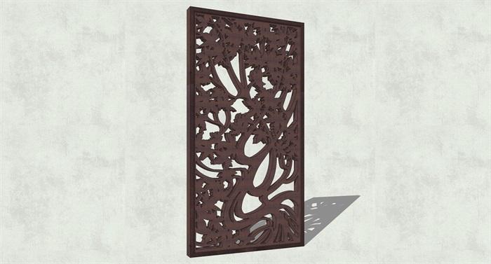 不锈钢镂空雕塑花纹景观板(9)