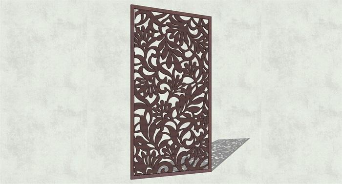 不锈钢镂空雕塑花纹景观板(10)