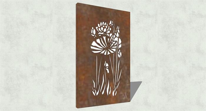 不锈钢镂空雕塑花纹景观板(11)