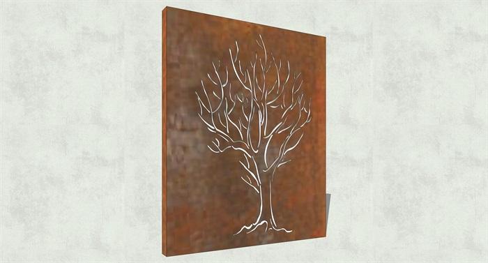 不锈钢镂空雕塑花纹景观板(12)