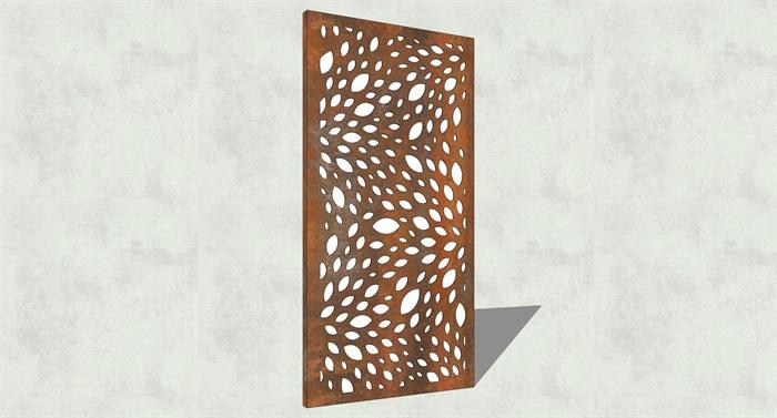 不锈钢镂空雕塑花纹景观板(13)