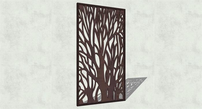 不锈钢镂空雕塑花纹景观板(15)