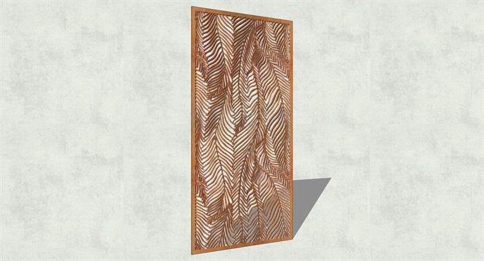 不锈钢镂空雕塑花纹景观板(16)