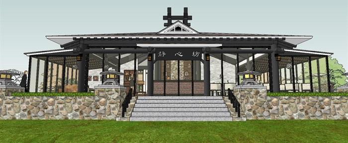滨水新中式度假风情餐厅室内设计(1)