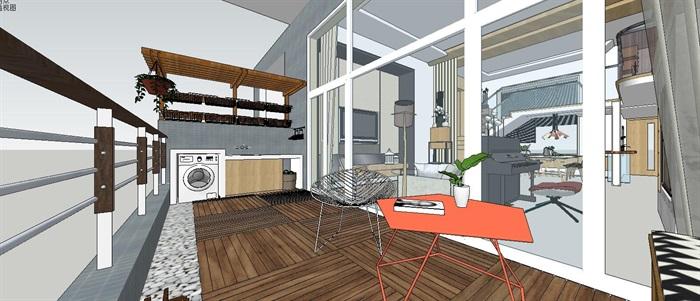 现代简约轻奢复式住宅室内设计(1)