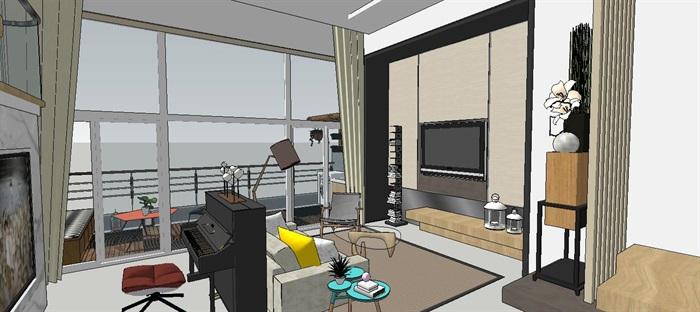 现代简约轻奢复式住宅室内设计(2)
