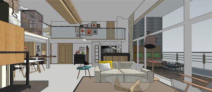 现代简约轻奢复式住宅室内设计(3)