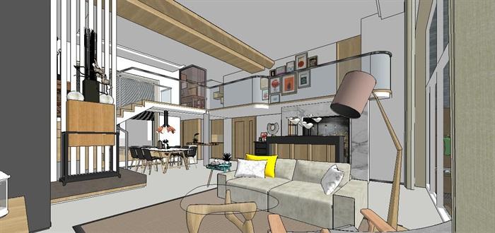 现代简约轻奢复式住宅室内设计(4)