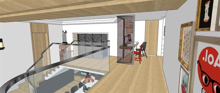 现代简约轻奢复式住宅室内设计(6)
