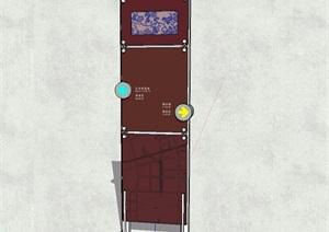 现代商业街指路标识设计SU(草图大师)模型
